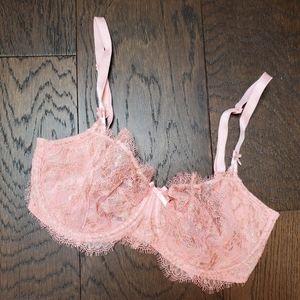 Victoria's Secret 32DDD pink gold unlined pushup